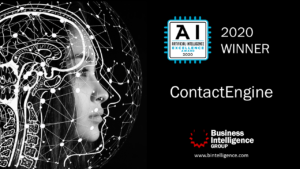ContactEngine named a winner in 2020 Artificial Intelligence Excellence Awards